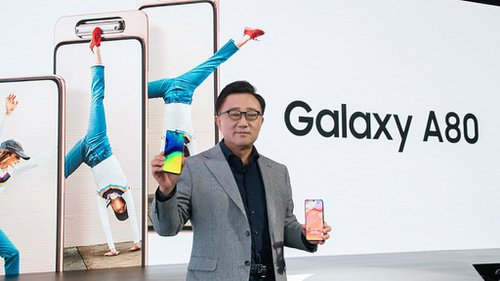 Samsung A80 Rilis di Indonesia Dengan Teknologi Rotasi Triple Camera